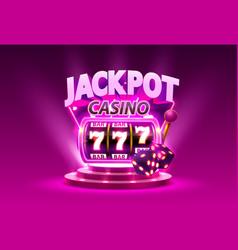 golden slot machine wins jackpot isolated on vector image