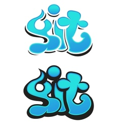 Graffiti design vector