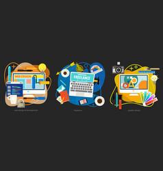 Graphic design webdesign development and vector