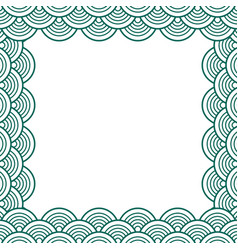 Green teal traditional wave japanese chinese vector