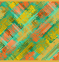 grunge seamless pattern autumn camouflage texture vector image