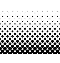 Halftone background of black dots vector image
