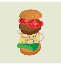 Hamburger or cheeseburger vector image