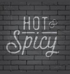 hand drawn lettering slogan on brick wall vector image vector image