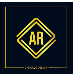 Initial letter ar logo template design vector
