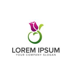 jasmine flower logo design concept template vector image
