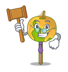 Judge candy apple mascot cartoon vector