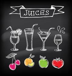 Juice posterbanner vector image