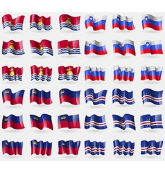 Kiribati Slovenia Liechtenstein Cape Verde Set of vector