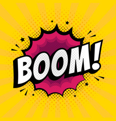 lettering boom bomb comic text sound effects vector image