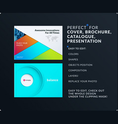 Material design presentation abstract colourful vector