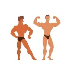 Mens physics bodybuilders vector image