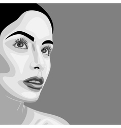 Monochrome beauty Woman with open Eyes vector image
