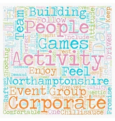 Multi activity days in Northamptonshire text vector