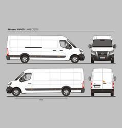 Nissan nv400 cargo delivery van l4h2 2015 vector