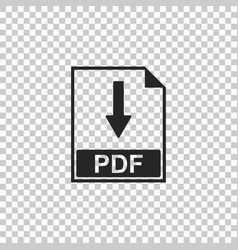 Pdf file document icon on transparent background vector
