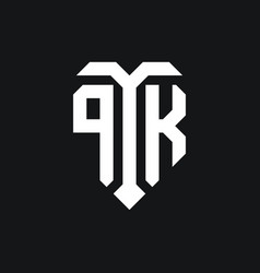 Pk logo monogram design template vector