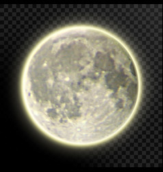 Realistic detailed full moon isolated on vector