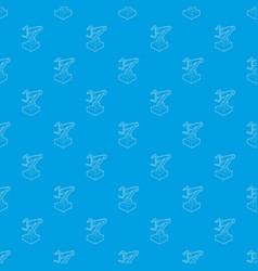 robotic arm pattern seamless blue vector image
