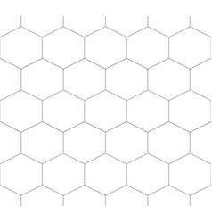 seamless pattern hexagon vector image