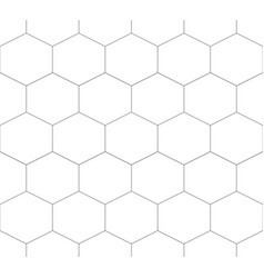 seamless pattern of hexagon vector image