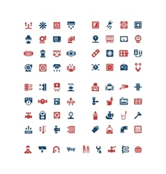 Set color icons of house system vector