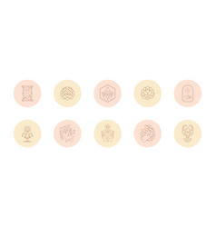 set icons and emblems for social media stories vector image