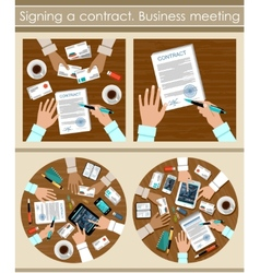 Signing a contract vector image