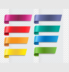 silk colorful ribbons set transparent background vector image