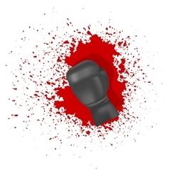 Single Boxing Glove vector image