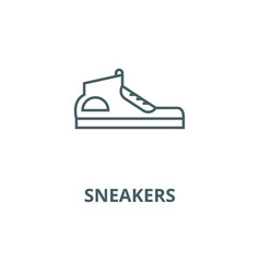 sneakers line icon linear concept outline vector image