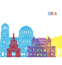 Sofia skyline pop vector