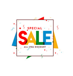 Special sale all item template design vector