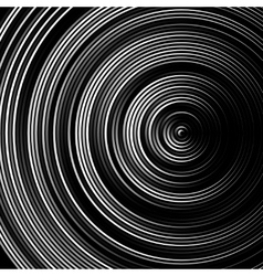 Spiral concentric lines circular rotating vector