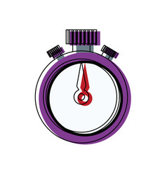 Stopwatch timer chronometer counter flat icon vector