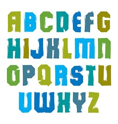 stylish brush uppercase letters handwritten vector image