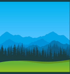 Summer landscape with clear blue sky vector