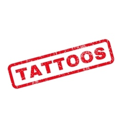 Tattoos Rubber Stamp vector image