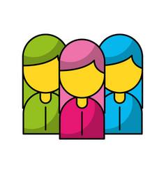 teamwork people avatars icon vector image