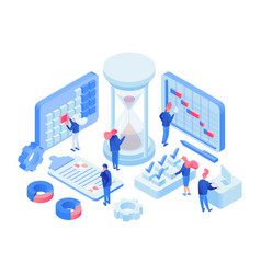 Time management 3d lab isometric vector