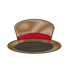 top hat for men fashion vintage accessory vector image