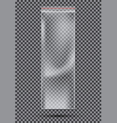 Transparent nylon or polyethylene bag with lock vector