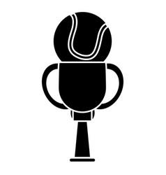 Trophy tennis sport image pictogram vector