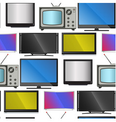 Tv screen lcd monitor and notebook tablet vector