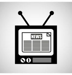 tv vintange news icon graphic vector image