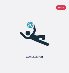 two color goalkeeper icon from security concept vector image