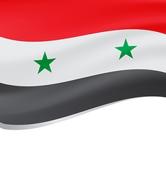 Waving flag of syria isolated on white vector