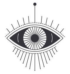 witchcraft and magic sign eye masonry symbol vector image