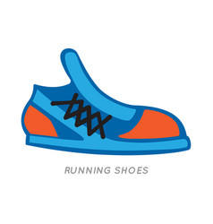 blue-orange running shoes icon isolated on white vector image vector image