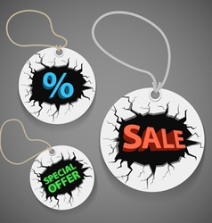 Discount shopping tags set vector image